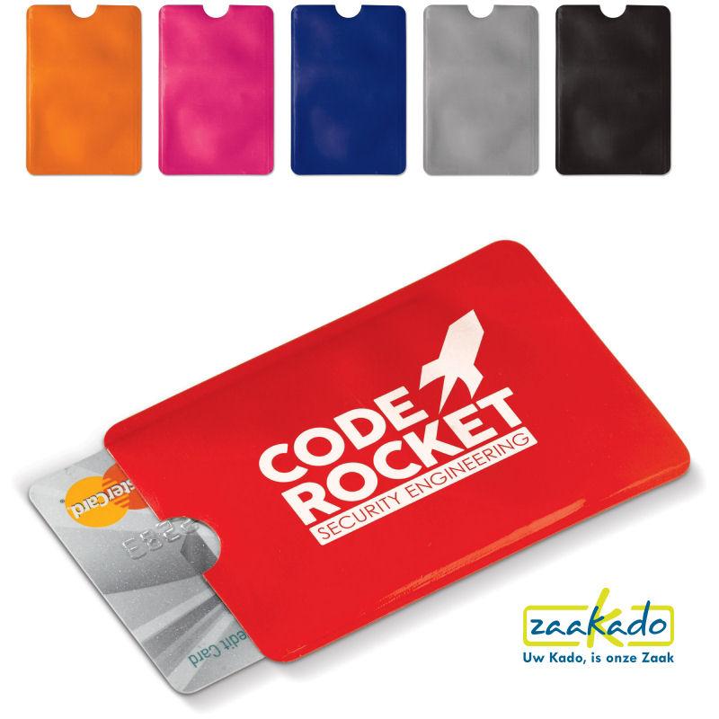 4f9a63e7ade Anti skimming bankpas beschermhoes bedrukt met uw logo als veilige giveaway  promotieartikelen ZaaKado Rotterdam