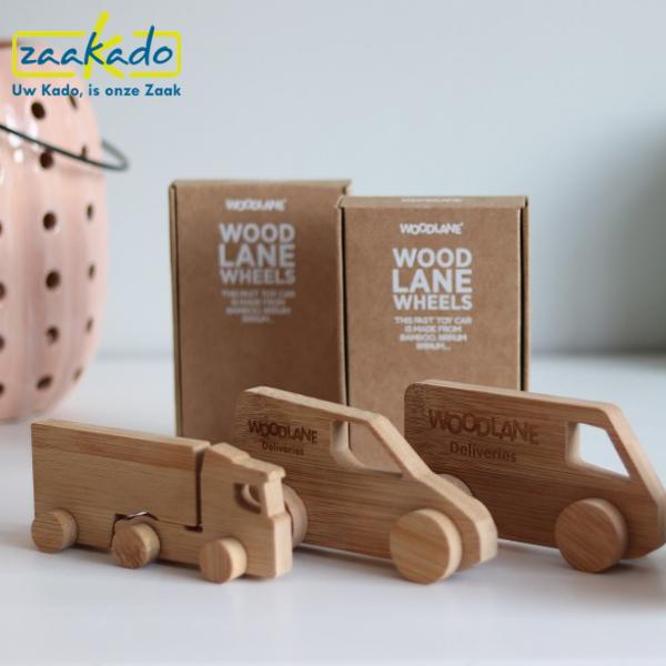 bamboe speelgoed kinderen politie auto relatiegeschenken